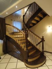 Лестницы из массива березы из Омска