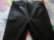 Продам мужские брюки из кожи чёрного цвета